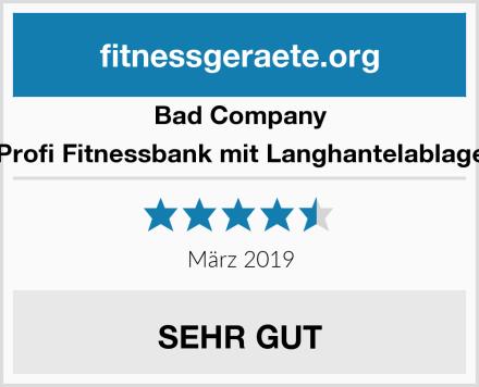 Bad Company Profi Fitnessbank mit Langhantelablage Test