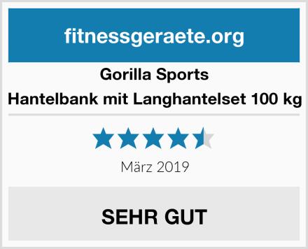 Gorilla Sports Hantelbank mit Langhantelset 100 kg Test