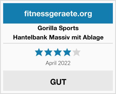 Gorilla Sports Hantelbank Massiv mit Ablage Test