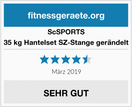 ScSPORTS 35 kg Hantelset SZ-Stange gerändelt Test