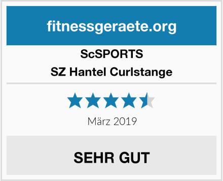 ScSPORTS SZ Hantel Curlstange Test