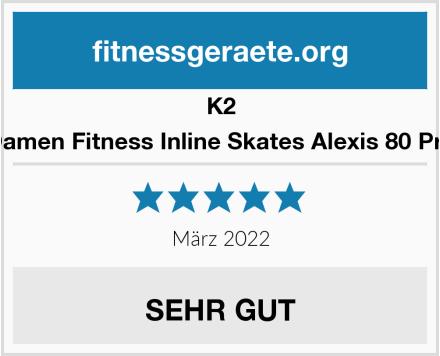 K2 Damen Fitness Inline Skates Alexis 80 Pro Test