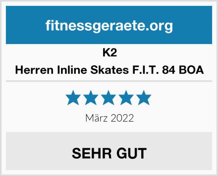 K2 Herren Inline Skates F.I.T. 84 BOA Test