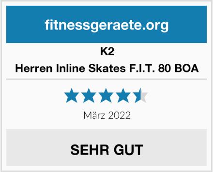 K2 Herren Inline Skates F.I.T. 80 BOA Test