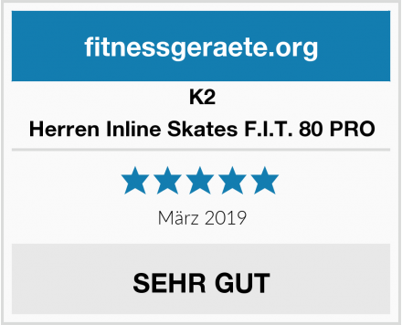 K2 Herren Inline Skates F.I.T. 80 PRO Test