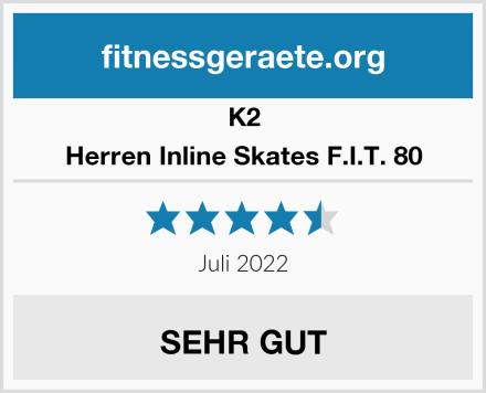 K2 Herren Inline Skates F.I.T. 80 Test