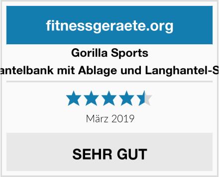 Gorilla Sports Hantelbank mit Ablage und Langhantel-Set Test