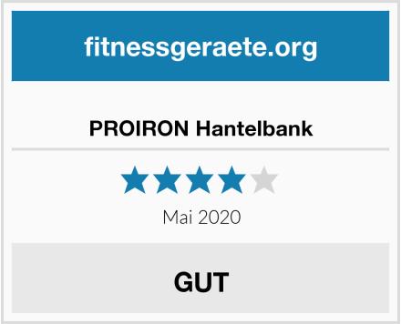 No Name PROIRON Hantelbank Test