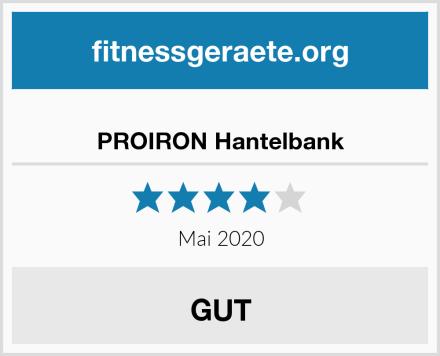 PROIRON Hantelbank Test