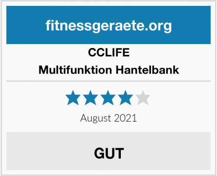CCLIFE Multifunktion Hantelbank Test