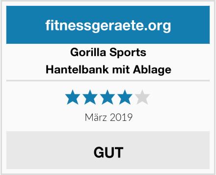 Gorilla Sports Hantelbank mit Ablage Test