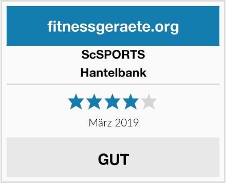 ScSPORTS Hantelbank Test