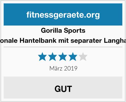 Gorilla Sports Multifunktionale Hantelbank mit separater Langhantelablage Test