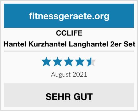CCLIFE Hantel Kurzhantel Langhantel 2er Set Test
