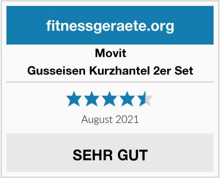 Movit Gusseisen Kurzhantel 2er Set Test