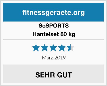 ScSPORTS Hantelset 80 kg Test