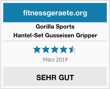Gorilla Sports Hantel-Set Gusseisen Gripper Test