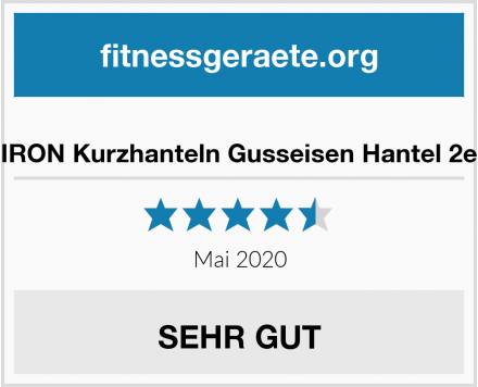 PROIRON Kurzhanteln Gusseisen Hantel 2er Set Test