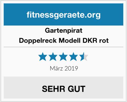 Gartenpirat Doppelreck Modell DKR rot Test