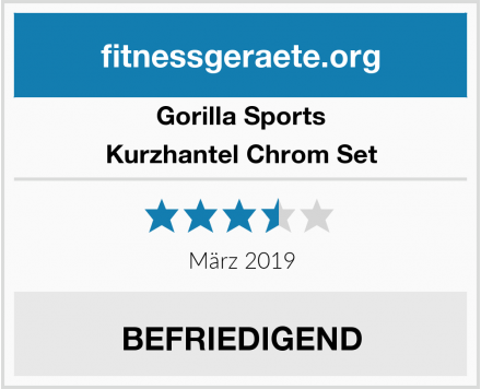 Gorilla Sports Kurzhantel Chrom Set Test