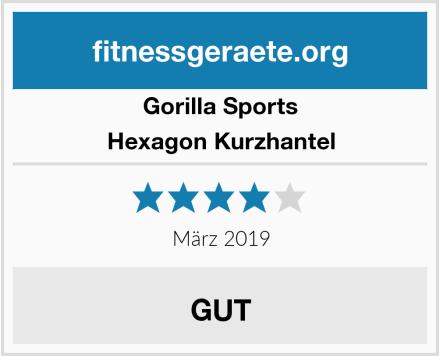 Gorilla Sports Hexagon Kurzhantel Test