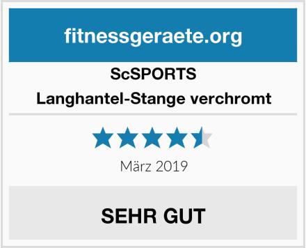 ScSPORTS Langhantel-Stange verchromt Test