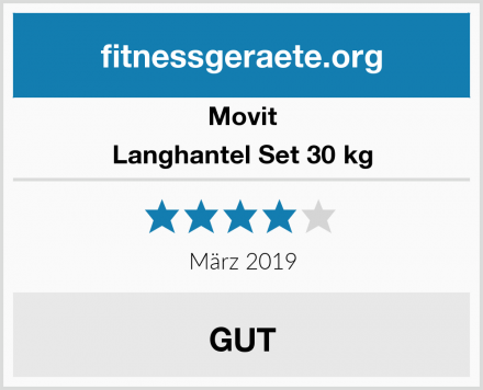 Movit Langhantel Set 30 kg Test