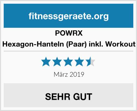 POWRX Hexagon-Hanteln (Paar) inkl. Workout Test