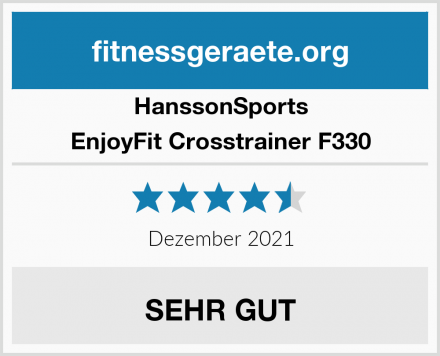 HanssonSports EnjoyFit Crosstrainer F330 Test
