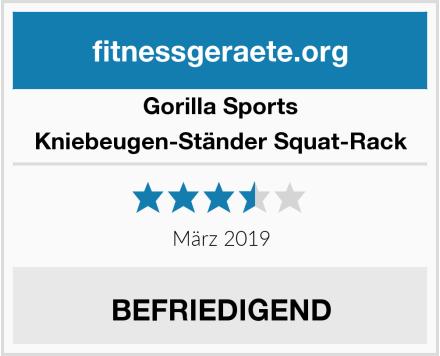 Gorilla Sports Kniebeugen-Ständer Squat-Rack Test