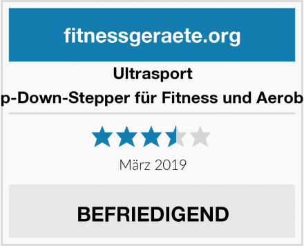 Ultrasport Up-Down-Stepper für Fitness und Aerobic Test
