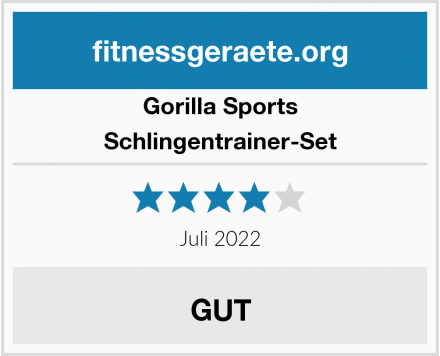 Gorilla Sports Schlingentrainer-Set Test