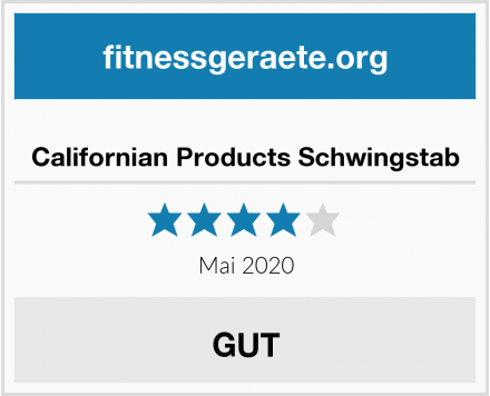 Californian Products Schwingstab Test