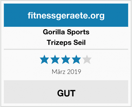 Gorilla Sports Trizeps Seil Test