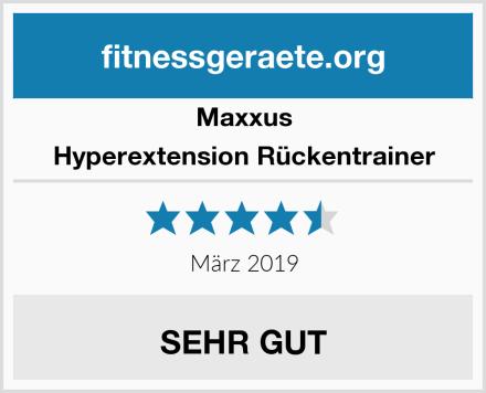 Maxxus Hyperextension Rückentrainer Test