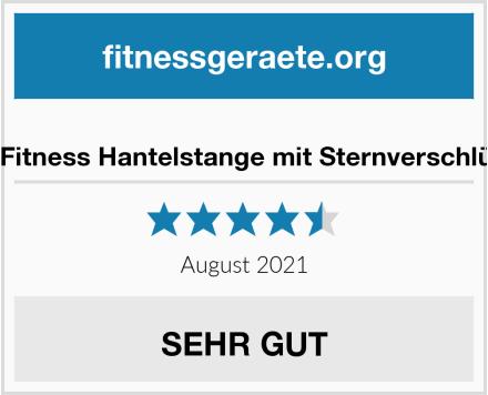 DTX Fitness Hantelstange mit Sternverschlüssen Test