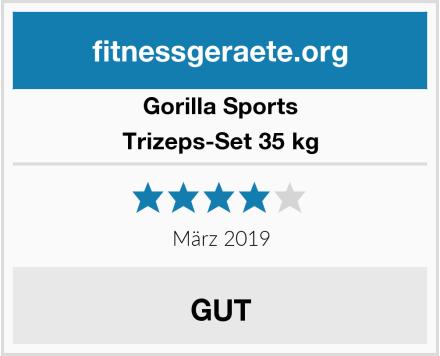 Gorilla Sports Trizeps-Set 35 kg Test