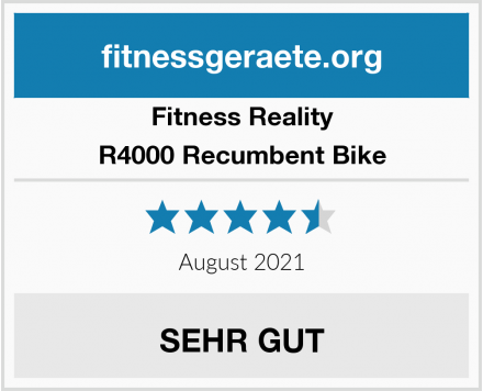 Fitness Reality R4000 Recumbent Bike Test
