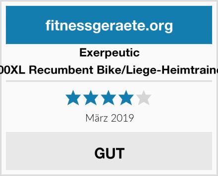 Exerpeutic 900XL Recumbent Bike/Liege-Heimtrainer Test