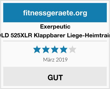 Exerpeutic GOLD 525XLR Klappbarer Liege-Heimtrainer Test