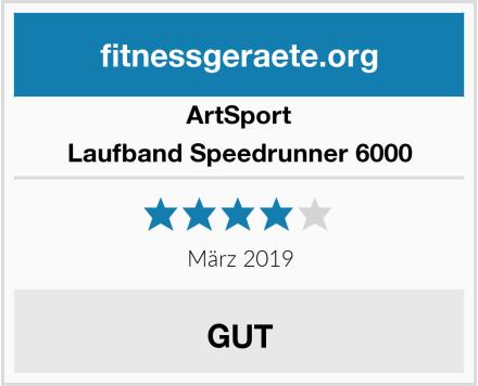 ArtSport Laufband Speedrunner 6000 Test