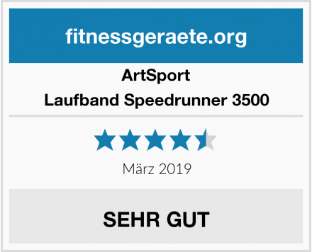 ArtSport Laufband Speedrunner 3500 Test