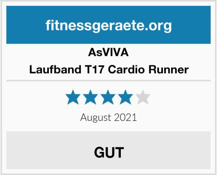 AsVIVA Laufband T17 Cardio Runner Test