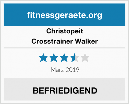 Christopeit Crosstrainer Walker Test