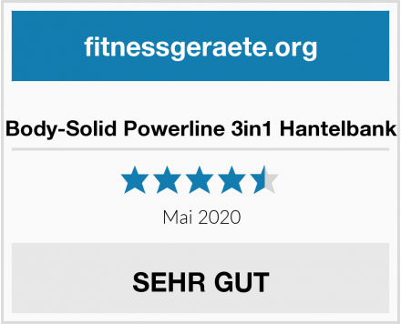 Body-Solid Powerline 3in1 Hantelbank Test