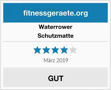 Waterrower Schutzmatte Test