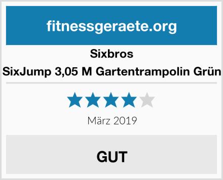 Sixbros SixJump 3,05 M Gartentrampolin Grün Test
