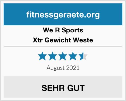 We R Sports Xtr Gewicht Weste Test