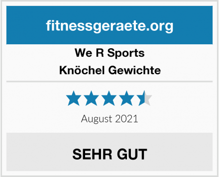 We R Sports Knöchel Gewichte Test