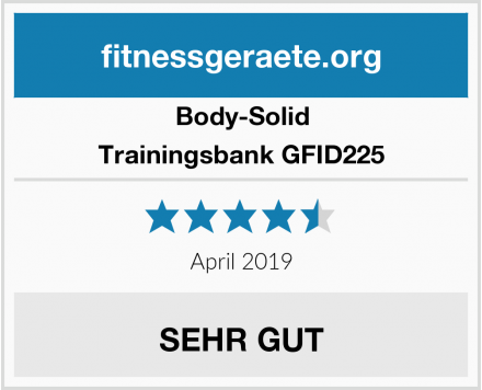 Body-Solid Trainingsbank GFID225 Test